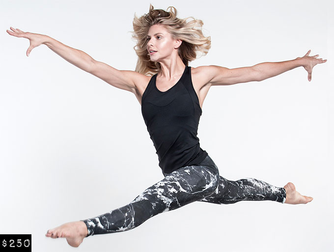 Fitness Fashion - Norma Kamali Marble Legging from Carbon38