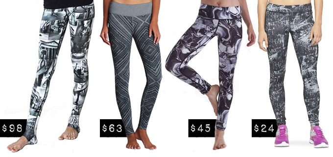 Fitness Fashion - Grayscale Printed Leggings