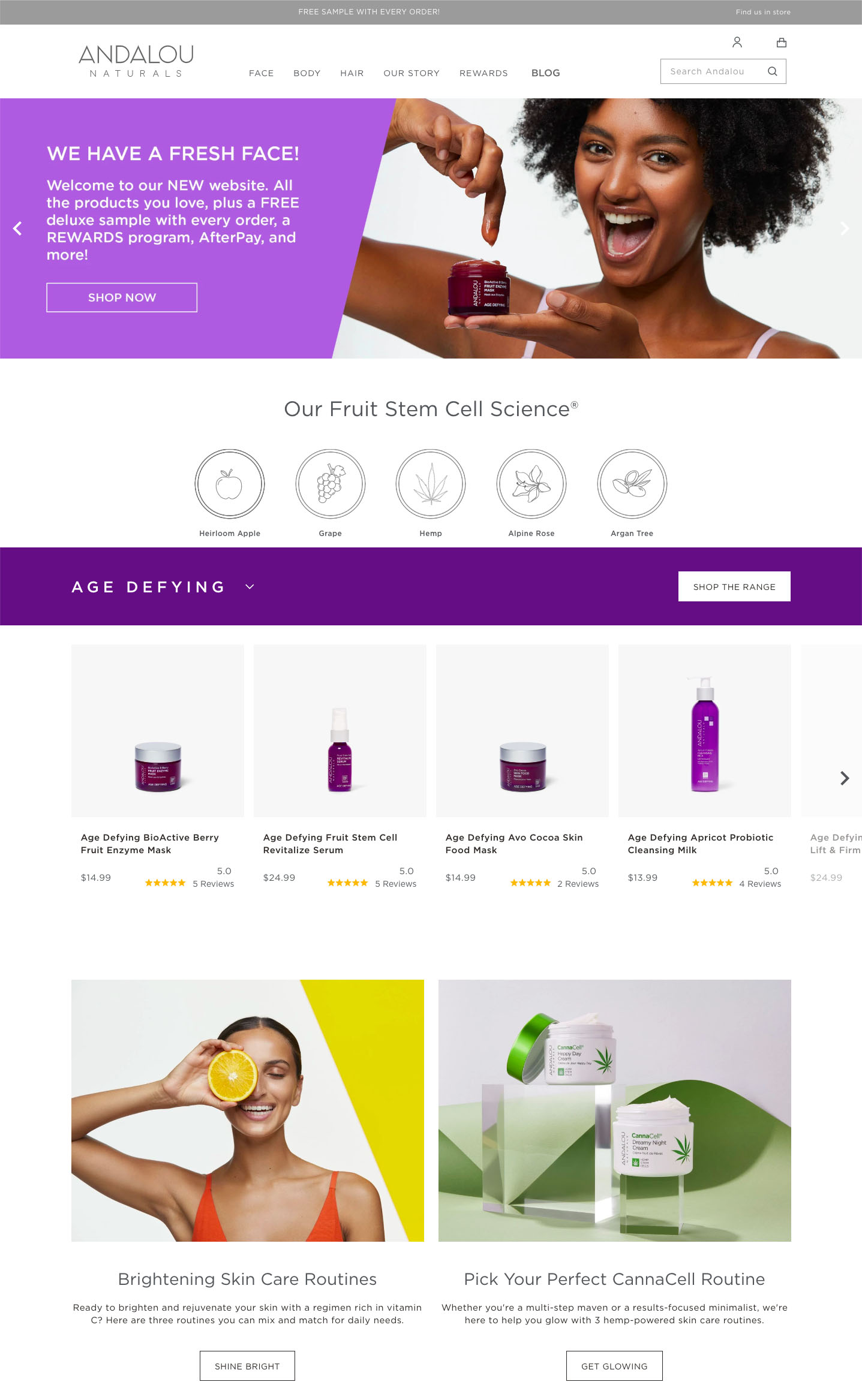 Andalou.com Website Relaunch